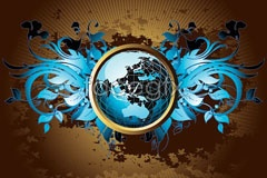 Link toillustration vector current earth crystal blue A