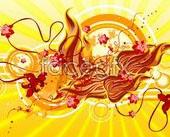 Link toA brilliant hue city floral background vector