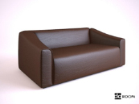Link toA brown leather the multiplayer sofa 3d model