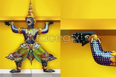 Link tovector idol traditional thailand color A