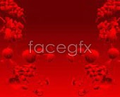 Link toA commonly used red floral card background vector