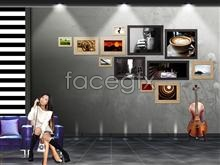 Link toA corner of film hd pictures poster guitar floor psd