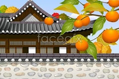 Link tovector building loft style chinese ancient the of corner A