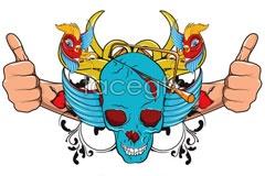 Link tovector illustration skull current A