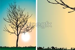 Link toA dead tree silhouette vector