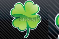 Link toA delicate and realistic four-leaf clover vector