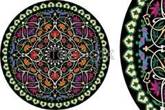 A delicate circular pattern vector