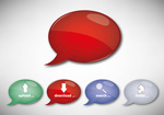 Link toA dialogue bubble button vector