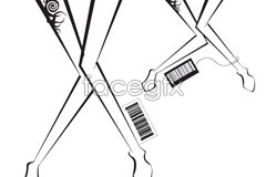 Link tovector barcode and legs female distinctive A