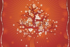 Link toA dying tree and snowflake eps vector
