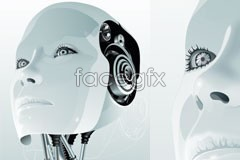 Link tovector style 3d robot female A