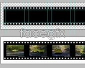 A film template pictures footage psd