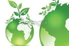 Link tovector plant and protection environmental earth green A