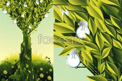 Link toA green theme current three-dimensional vector illustration
