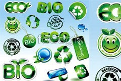 Link toA group of green crystal green icon vector