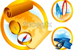 Link toA group of outdoor sports standing icon vector
