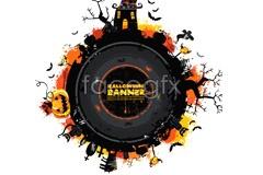 Link toA halloween circular power flow vector illustration