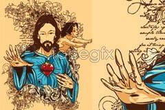 Link toillustration vector character jesus A