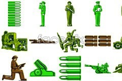 Link toillustration vector character theme military A