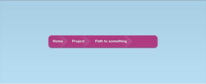 Link toA pink vibrant breadcrumb interface psd