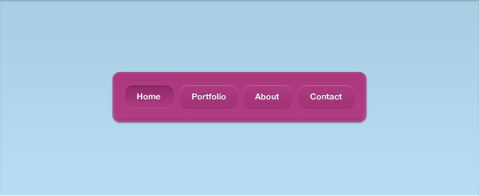 Link toA pink vibrant navigation interface psd
