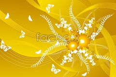 Link toA practical warm butterfly flower background vector