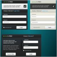 Link toA practical web login box psd layered