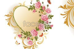 Link toA rose flower-shaped pattern vector