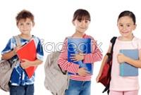 Link toA row of dorsal bag student hd photo