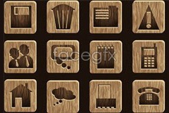 Link tovector icon grain wood beautiful of set A