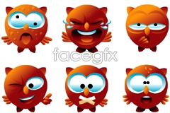 Link toA set of cute cartoon owl expression vector