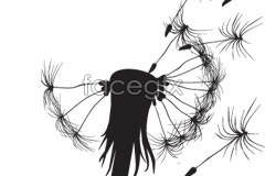 Link toA simple dandelion silhouettes vector