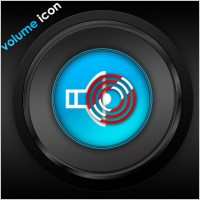 A sleek volume icon psd layered