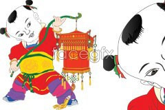 Link tovector year new chinese celebration chinese traditional A