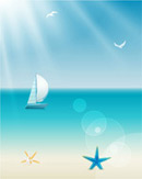 Link toA tranquil ocean sailing vector