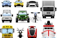 Link toA variety of automobile transport vector