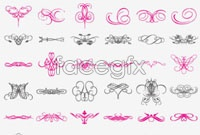 Link toA variety of beautiful lace pattern elements vector