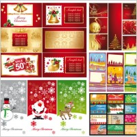 Link toA variety of christmas background vector greeting cards