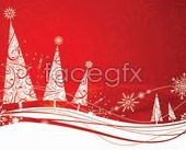 Link toA variety of christmas decorations vector background