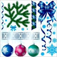 Link toA variety of christmas decorations vector material