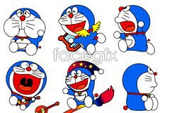 Link toA variety of cute cartoon doraemon vector