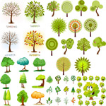 Link toA variety of green trees vector