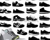 Link toA variety of sneakers vector