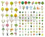Link toA variety of trees vector