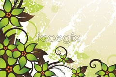 Link toA vintage green lace pattern vector