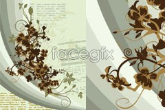 Link toA vintage style and plain flower background vector