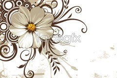 A vintage style floral pattern vector