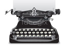 Link toA vintage style vintage typewriter vector