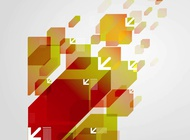 Link toAbstract arrows background vector free