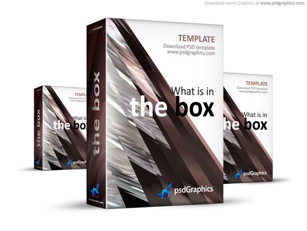 Link toAbstract brown 3d box template (psd)